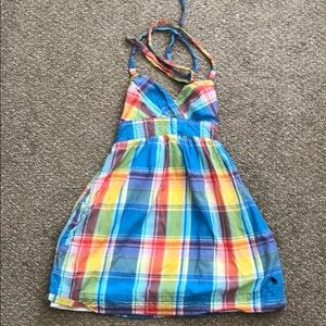 Abercrombie and Fitch Plaid Halter Dress